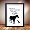 Horse Poster, Horse Print, Best Friends Animal, Horse & Dog Artwork 8 x10 inches