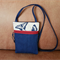 FREE POSTAGE - Small Cross Body purse in Denim with butterflies
