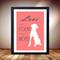 Love is a four legged word, Cute animal art, Retro dog print, Pet salon poster