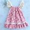 Coral strawberry fields summer dress