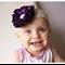 Floral Baby Headband - Large Daisy Lace Satin Flower - Zara BB