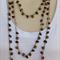 Tan Brown Wood Crochet Cotton Handmade OOAK Long Necklace by Top Shelf