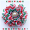Christmas Chevron Flower Clip - Pearl Rhinestone Beautiful Kids Hair Accessories