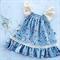 Vintage blue strawberry fields summer dress