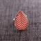 Red Sway Chevron Contemporary Teardrop Ring