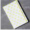 Neon Yellow Dots Upcycled Fabric Covered Notebook