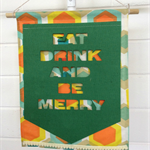 """Be Merry"" Wall Hanging in Green"