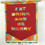 """Be Merry"" Wall Hanging in Red"