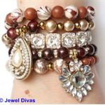 """CHOCOLATE CREAM"" Bracelet Stack"