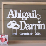 Personalised Wedding, Anniversary Papercut Art