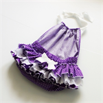 Purple Polkadot halterneck play suit - sizes 0-3mths to 18-24mths