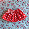 red polkadot Christmas skirt with bow sz 1-5