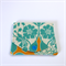 Pocket Purse - Teal flowers on oatmeal & orange yellow