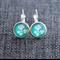 White Blossoms ~ Lever Back Earrings