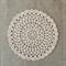 Crochet doily, neutral beige, linen, teacher's gift, free postage