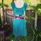 Teal Jersey Panel Dress