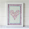 Pink Floral Heart with Love