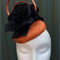 Black and Orange Fascinator Headpiece
