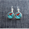 Lil Red Sparrow ~ Lever Back Earrings