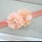 Peach bella flowers chiffon stretch headband