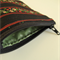 Navy, red striped, green, red and cream floral print coin purse with zipper