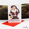 Jolly Saint Nicholas - Santa - Christmas Card - Blank Inside