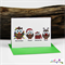 4 Wise Owls - Christmas Card - Blank Inside