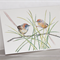Mallee Emu-wren greeting card, Australian bird, small cute, wildlife art