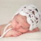 Shelly Mohair Bonnet / White / Newborn Photography Prop