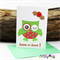 Winking Owl - Having a Hoot this Christmas - Christmas Card - Blank Inside