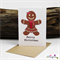 Gingerbread - Christmas Card - Blank Inside