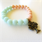 Mint Green / Soft Peach Pastel Bracelet with Tree of Life Pendant