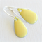 Yellow Teardrop Earrings