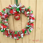 Large Christmas Wreath - Red, White and Green