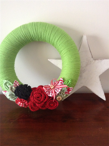 READY TO SHIP  Christmas Wreath Decoration Wall Hanging