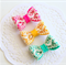 Set of 3 Baby / Girls  Clip / Clips / Bows - 'Lace Love'