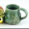 Pottery Coffee Mug Ceramic Cup Handmade Green Unique Tableware Christmas gift