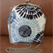 FREE POSTAGE - Cross body clutch purse with chain.  Lovely blues, navy and cream