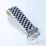 Black and White Spots Key Fobs