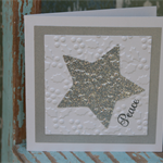 Star Gift Card ~ Peace ~ Christmas in July ~ Ready to Post
