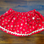 Red & gold Christmas print skirt! Perfect for the upcoming festive season!