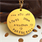 'Narvi' Gold disc pendant Handstamped… YOU ARE LOVED SEEN AMAZING PERFECT ...