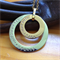 'Selene' Gorgeous handcrafted 2 layer washer Tri coloured pendant.