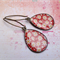 Red Flower Print Earrings