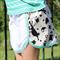 Black and Cream Bunnies, Bears, Hearts Shorts Polkadot Lace Edge Girl's Size 10