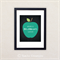 Sale! Printable Personalised 8x10 art. Teacher's Gift. Green Apple.