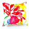 Floral Cushion Cover in Red, Yellow, Orange, Blue, Green and White