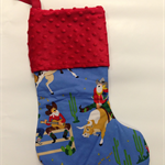 Personalised Christmas Stocking - Cowboy Santa