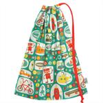 Library Bag. A Fun Bag for Boys. Toy Bag.  Large Drawstring Bag. Boys Toys.