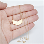 GOLD CHEVRON Necklace - 14k Gold Filled Chain with Gold Plated Chevron pendant